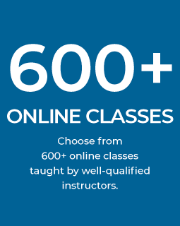 600 plus online classes