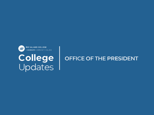 Banner for Rio Salado Office of the President College Updates