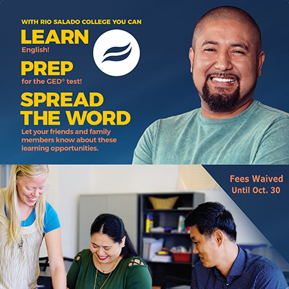 Proud Rio Salado student smiling. Learn, Prep, Spread the Word about Rio Salado's Adult Education Programs