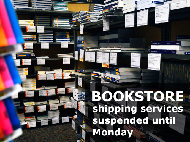Bookstore Shipping Services Suspended Until Monday