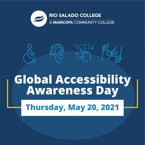 Four icons representing a wheelchair user, hearing aid user, a Braille reader, and American Sign Language (ASL). Text reads: Rio