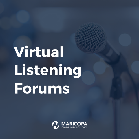 "Graphic reads, ""Virtual Listening Forums"""