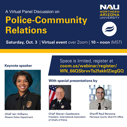 An Open Discussion on Police-Community Relations Virtual Town Hall, Oct. 3