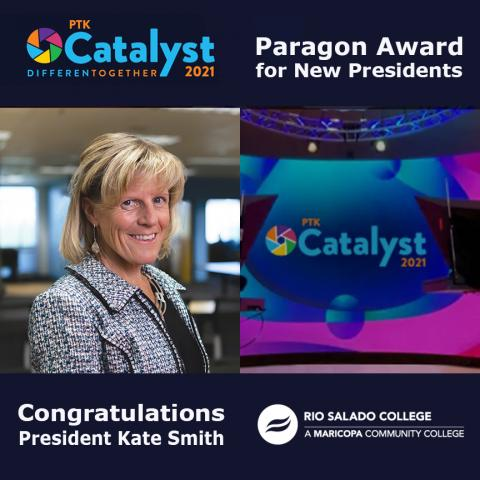 Rio Salado College President Kate Smith Receives PTK Paragon Award for New Presidents