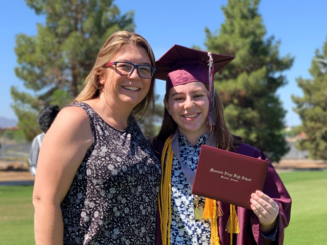 Rio Salado Faculty Chair of Physical Sciences Shawn Korman celebrates graduation with her daughter, Cassidy Korman.