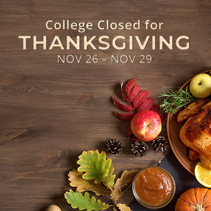 College Closure-Thanksgiving Day