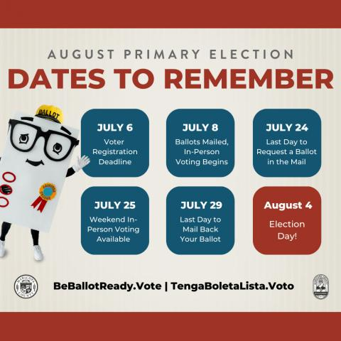 Maricopa County voter dates to remember poster
