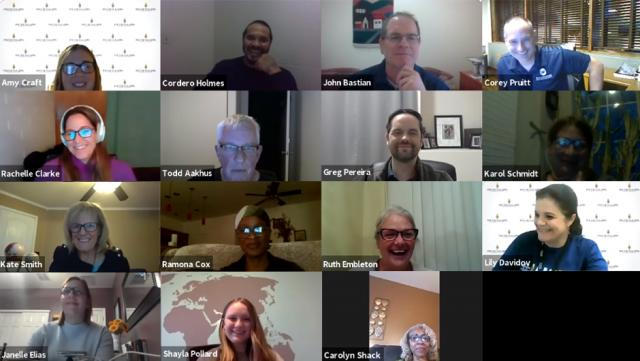 PTK teams relied on Zoom and other virtual tools to host meetings