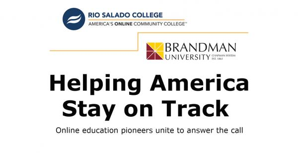 Helping America Stay on Track-- Online education pioneers unite to answer the call