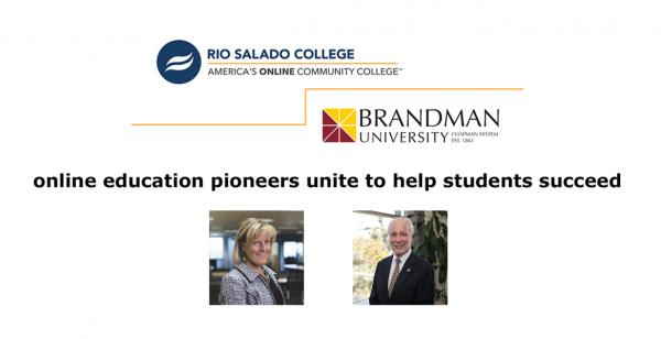 Rio Salado and Brandman: Online Education Pioneers Unite to Help Students Succeed