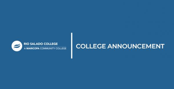 College Announcement and Rio Salado Logo
