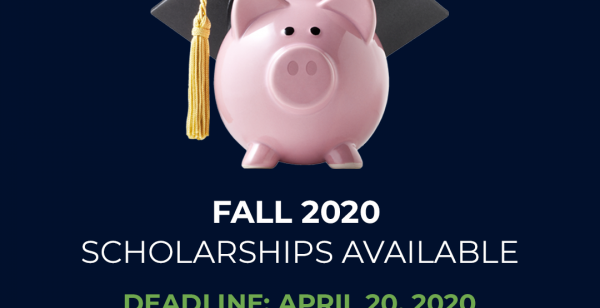 "Graphic shows a piggy bank with a graduation cap on it's head. Type reads, ""Fall 2020"""