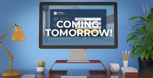 Picture of a computer monitor with text 'Coming Tomorrow'