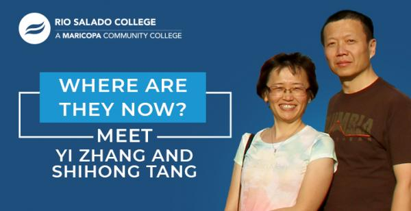 photo of couple Shihong Tang and Yi Zhang with text 'Where Are They Now Meet Shihong Tang and Yi Zhang'