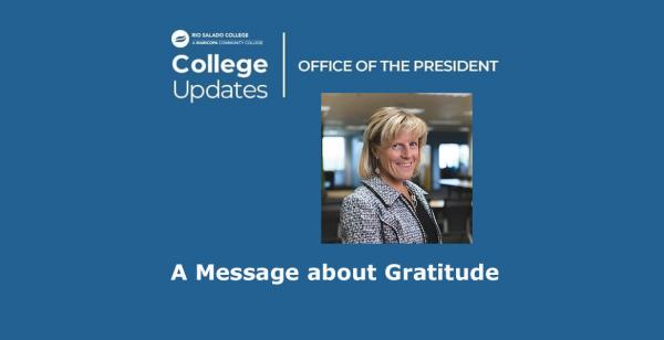 A Message from President Smith about Gratitude and Keeping You Safe this Holiday Season