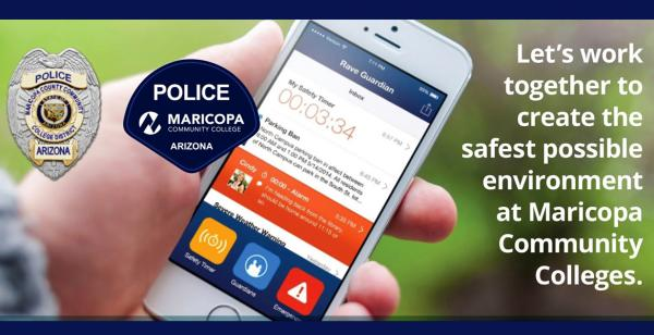 Let's work together to create the safest possible environment at Maricopa Community Colleges. Download the Guardian App Today.