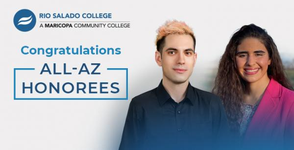 two student photos says 'Congratulations All AZ Honorees'