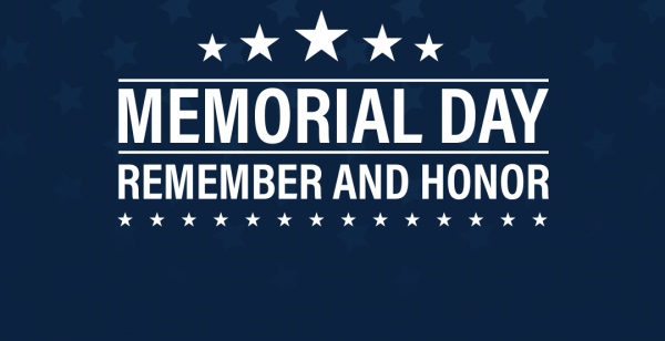 """Graphic reads """"memorial day remember and honor"""""""